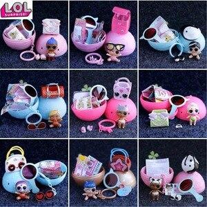 LOL doll Surprise-Gafas de vestir originales, zapatos de botella, decoloración fría, accesorios lol, juguetes originales para niños