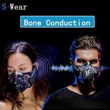 Draadloze Oplaadbare Smart BT4.0 Hoofdtelefoon Masker Haze Dust Slip Muziek Beengeleiding Hoofdtelefoon Anti Vervuiling Sport Masker