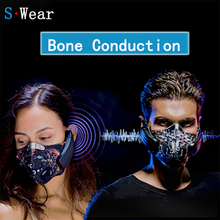 Drahtlose Wiederaufladbare Smart BT 4,0 Kopfhörer Maske Dunst Staub Beständig Musik Knochen Leitung Kopfhörer Anti verschmutzung Sport Maske