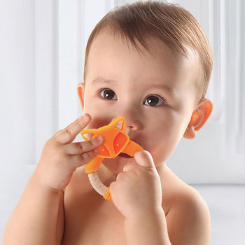 1pc Baby Toys Silicone Baby Rattle Teether Beech Wooden Ring Hand Teething Rattles Musical Chew Play Gym Montessori Stroller Toy baby wooden teether toys rattle nursing bracelet animal bear musical rattle newborn montessori educational stroller toy play gym
