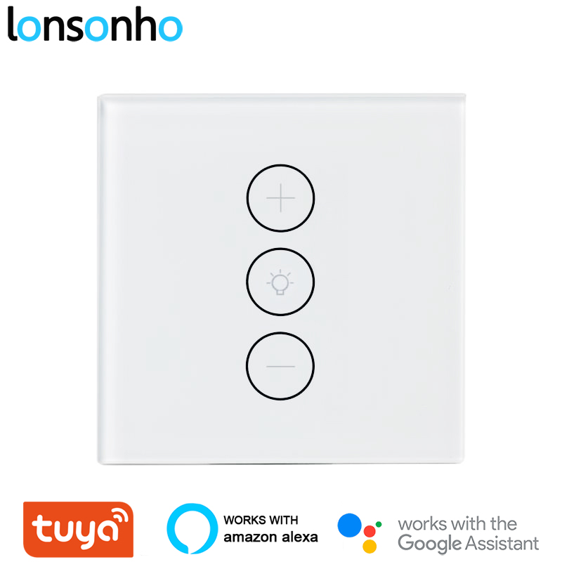 Lonsonho Tuya Wireless Smart Wifi Led Dimmer Switch EU 220V Touch Light Dimmers Works With Alexa Google Home Smartlife