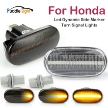 2pcs Led Dynamic Side Marker Turn Signal Light For Honda Accord CRX Civic Fit Integra Prelude Del Sol Repeater Signal Lights