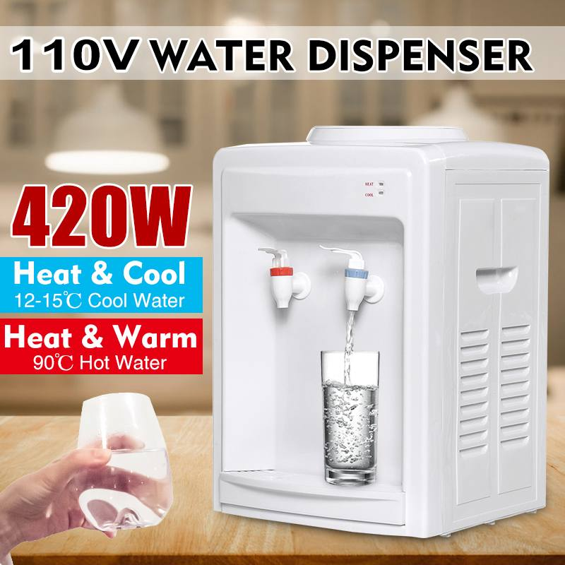 Drink Machine Instant Hot Cold Ice Electric Cooling Heaters Drinking Water Dispenser Desktop Office Home Water Boiler 110V