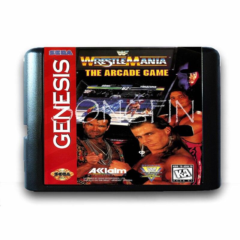 Wrestle Mania The Arcade Game 16 Bit Game Card For Sega Mega Drive Sega Genesis