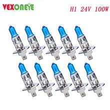 10 pces h1 24v 100w super branco auto lâmpadas de halogéneo carro fonte de luz acessório oem qualidade