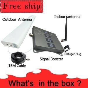 Image 5 - חם! 850 900 1800 2100mhz מאיץ טלפון נייד ארבעה Band GSM נייד אותות בוסטרים 2G 3G 4G LTE נייד מהדר GSM DCS WCDMA