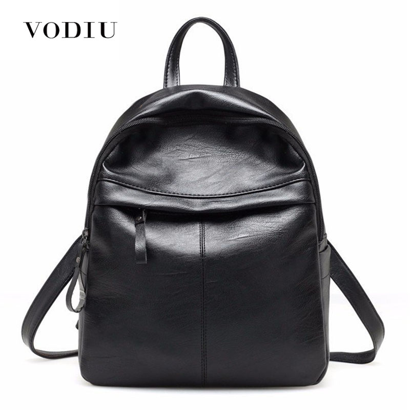 Fashion Leather Women Backpack School Backpacks Women's Backpack Zipper School Bag For Girls Large Capacity Female's Travel Bag