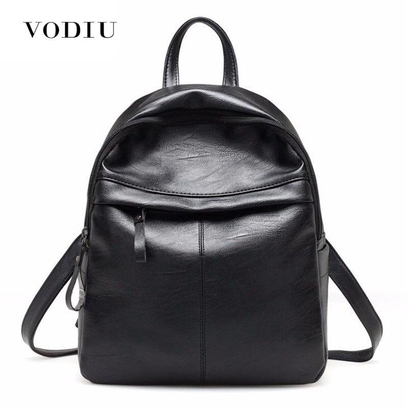 Fashion Leather Women Backpack School Backpacks Women's Backpack Zipper School Bag For Girls Large Capacity Female's Travel Bag