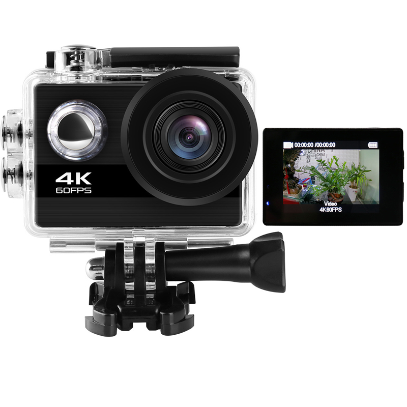 24MP Wifi Action Camera Ultra HD 4K 60fps 2.0'' IPS Screen Sport Camera 170D Underwater Go Waterproof Pro Sports DV DVR Camera