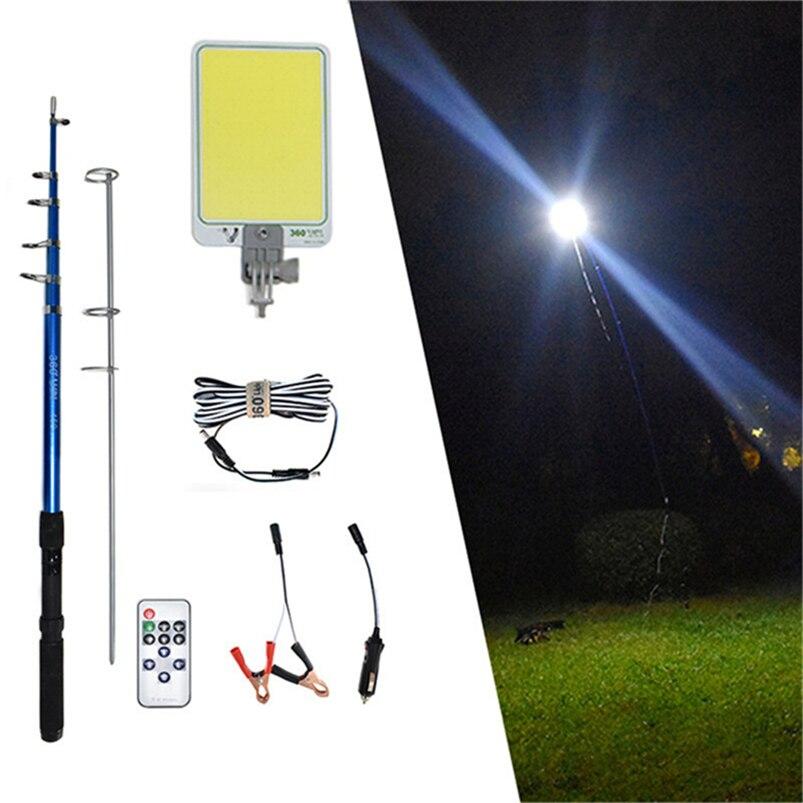 Portability Led Street Light Spotlight Lampara Recargable  Foco Outdoors Camping Tent Lamp 4.5m Telescopic Rod Work Light