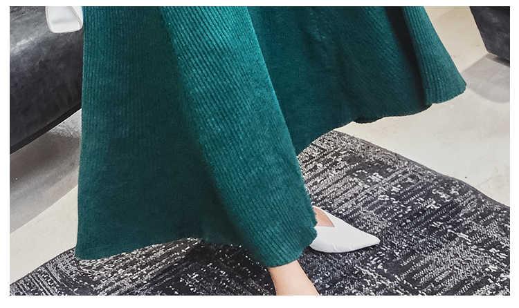 2019 ใหม่แฟชั่นฤดูใบไม้ร่วงและฤดูหนาวสบายๆยาวเสื้อผู้หญิง Pullover แขนยาวหญิงถักเสื้อกันหนาวชุด Vestidos