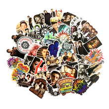 50Pcs Supernatural SPN Stickers for Scrapbooking Laptop Phone Cars Bicycle Skateboard Stationery Waterproof Funny Sticker Decals