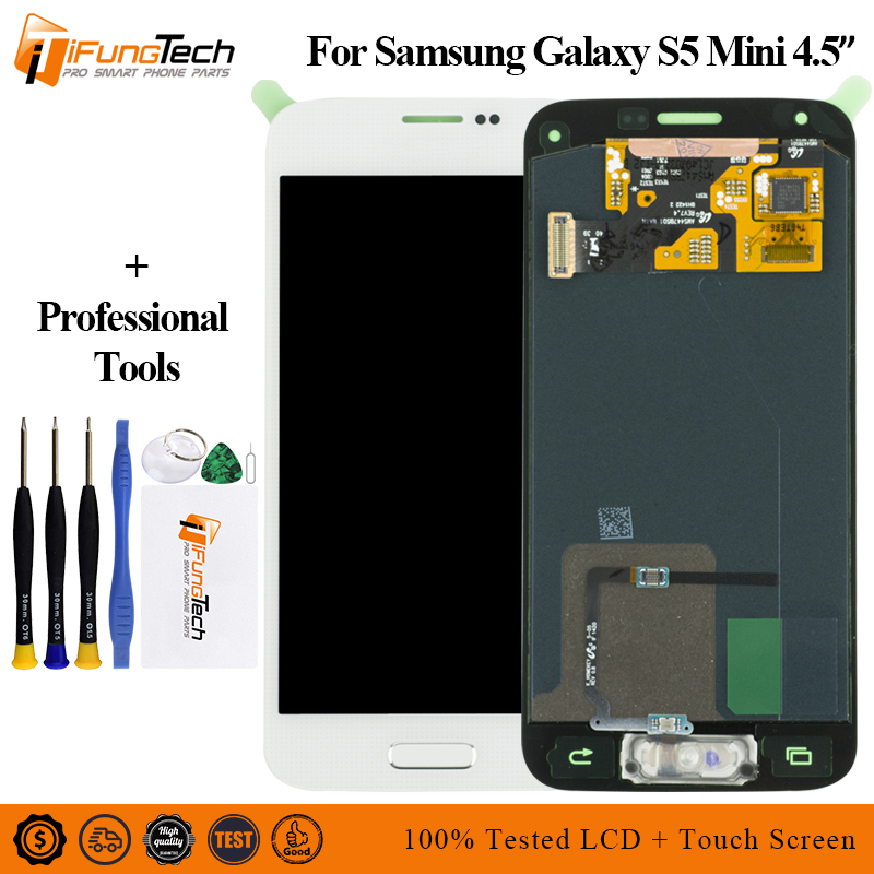 AMOLED LCD For <font><b>Samsung</b></font> Galaxy S5 Mini G800 <font><b>G800F</b></font> G800H LCD <font><b>Display</b></font> Touch Screen Digitizer Assembly For <font><b>Samsung</b></font> S5 Mini Lcd+Frame image