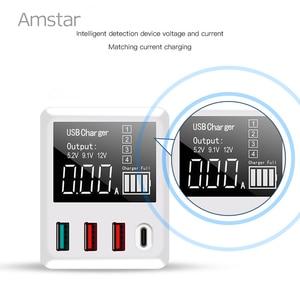 Image 3 - Amstar cargador USB tipo C para iPhone, Samsung, Huawei, adaptador de pared de viaje, carga rápida 3,0, 30W, pantalla LED