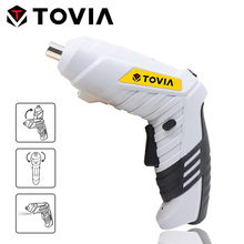 цена на TOVIA Portable Electric Screwdriver Rechargeable Lithium-Ion Cordless Screwdriver 3.6V Household Power Tool LED Light