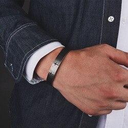 Мужской браслет Mcllroy, Браслет-манжета из титана и нержавеющей стали с покрытием из античной стали