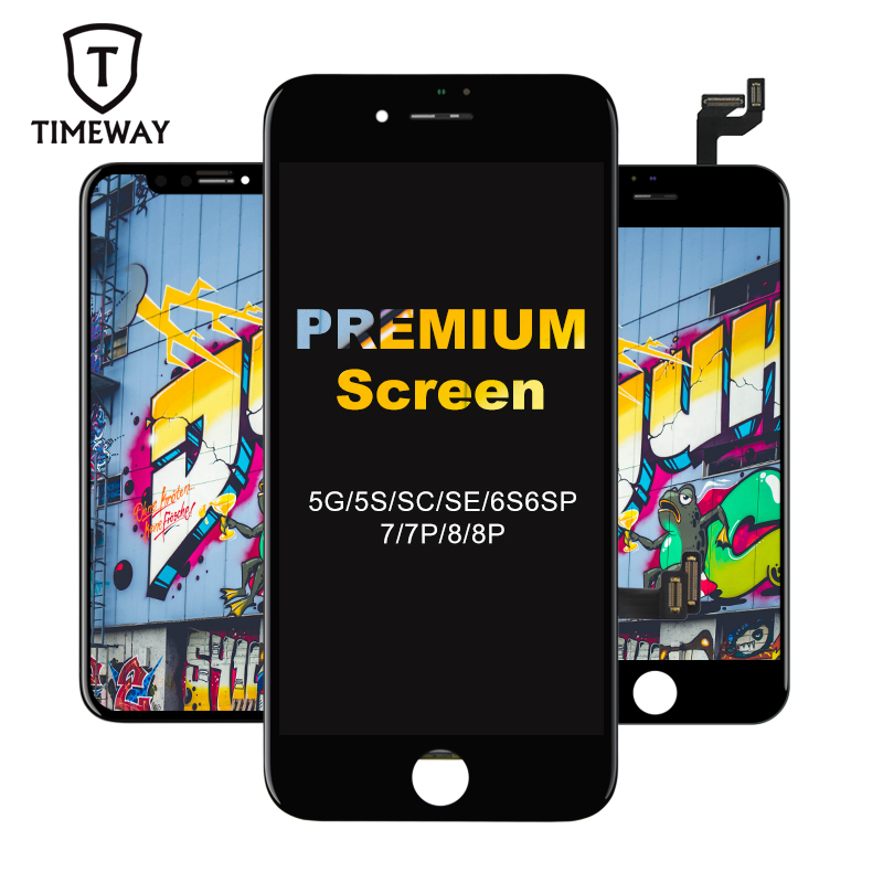 New Premium For iPhone 5S SE 6S Plus LCD Screen Tianma Replace with Touch Screen For iPhone 7 8 Plus Display Black(China)
