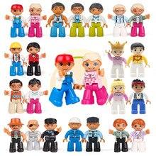 Figuras de ação acessórios série tamanho grande blocos de construção modelo cidade polícia família princesa bombeiros brinquedos para crianças presentes