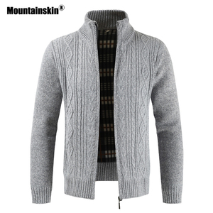 Mountainskin Autumn Cardigan Men Sweaters Thick Warm Knitted Sweater Mens Jackets Coats Male Clothing Casual Knitwear SA836(China)