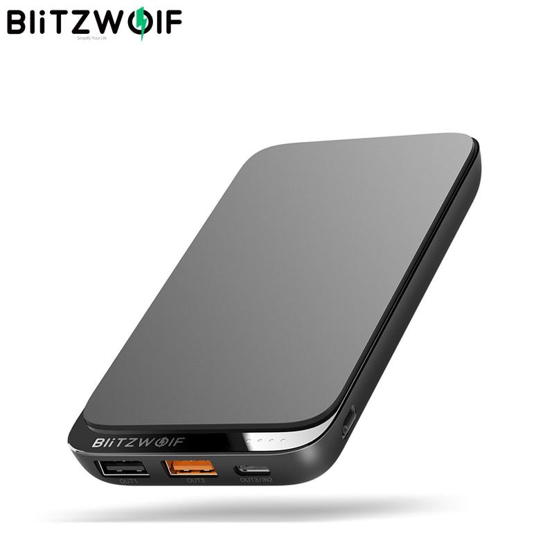 BlitzWolf BWP10 10000 мАч QC3.0 PD18W Power Bank 10 Вт Беспроводное зарядное устройство с 4 выходами для iPhone XS для выключателя для XIAOMI S10 S10 +