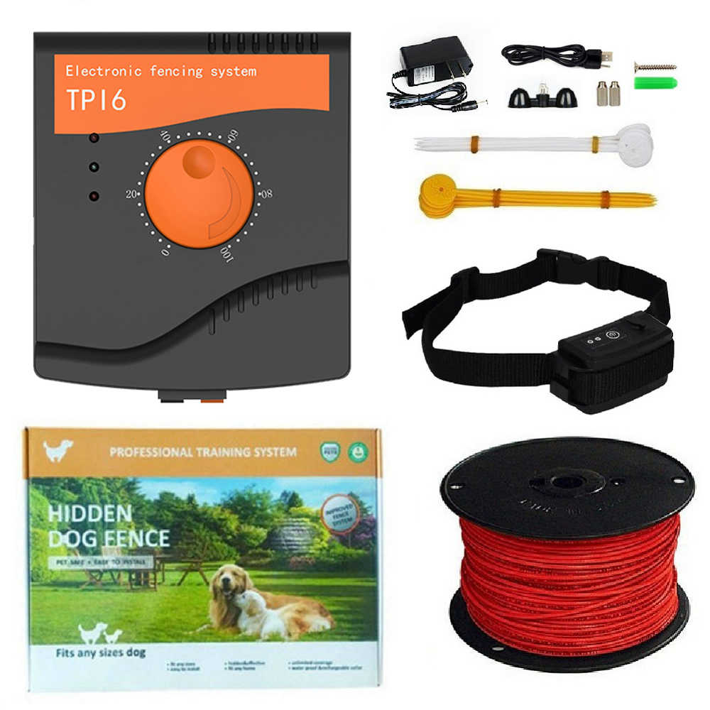 Tp16 Elektrische Omheining Hond Systeem Oplaadbare Waterdichte Trillingen Shock Verstelbare Honden Training Halsband Elektronische Hond Fencing Aliexpress