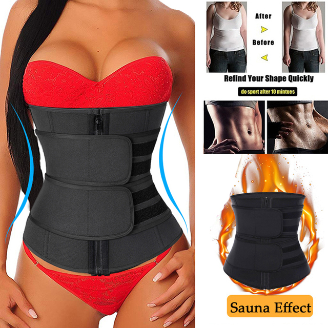 Neoprene Waist Trainer Thermo Sweat Body Shapewear Women Slimming Corset Tummy Control Belt Workout Compression Trimmer Fitness