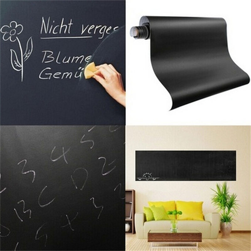 60*200cm Mural Decals Art Chalkboard Wall Sticker For Kids Rooms Chalk Board Blackboard Stickers Removable Vinyl Draw Decor