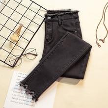 2019 Jeans Female Denim Pants Black Color Womens Jeans Donna