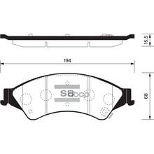 Колодки Тормозные Дисковые Sp1596 Sangsin brake арт. SP1596