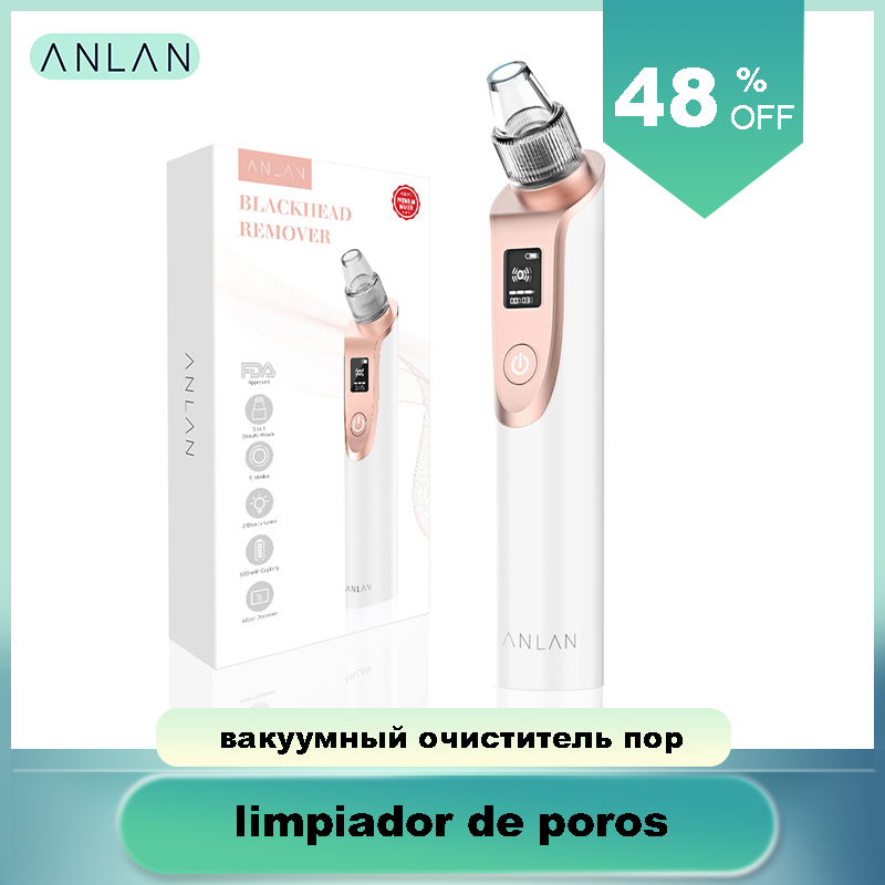 ANLAN Blackhead Remover Face Clean Pore Vacuum Acne Pimple Removal Vacuum Suction Facial Dermabrasion Tool Machine Skin Care