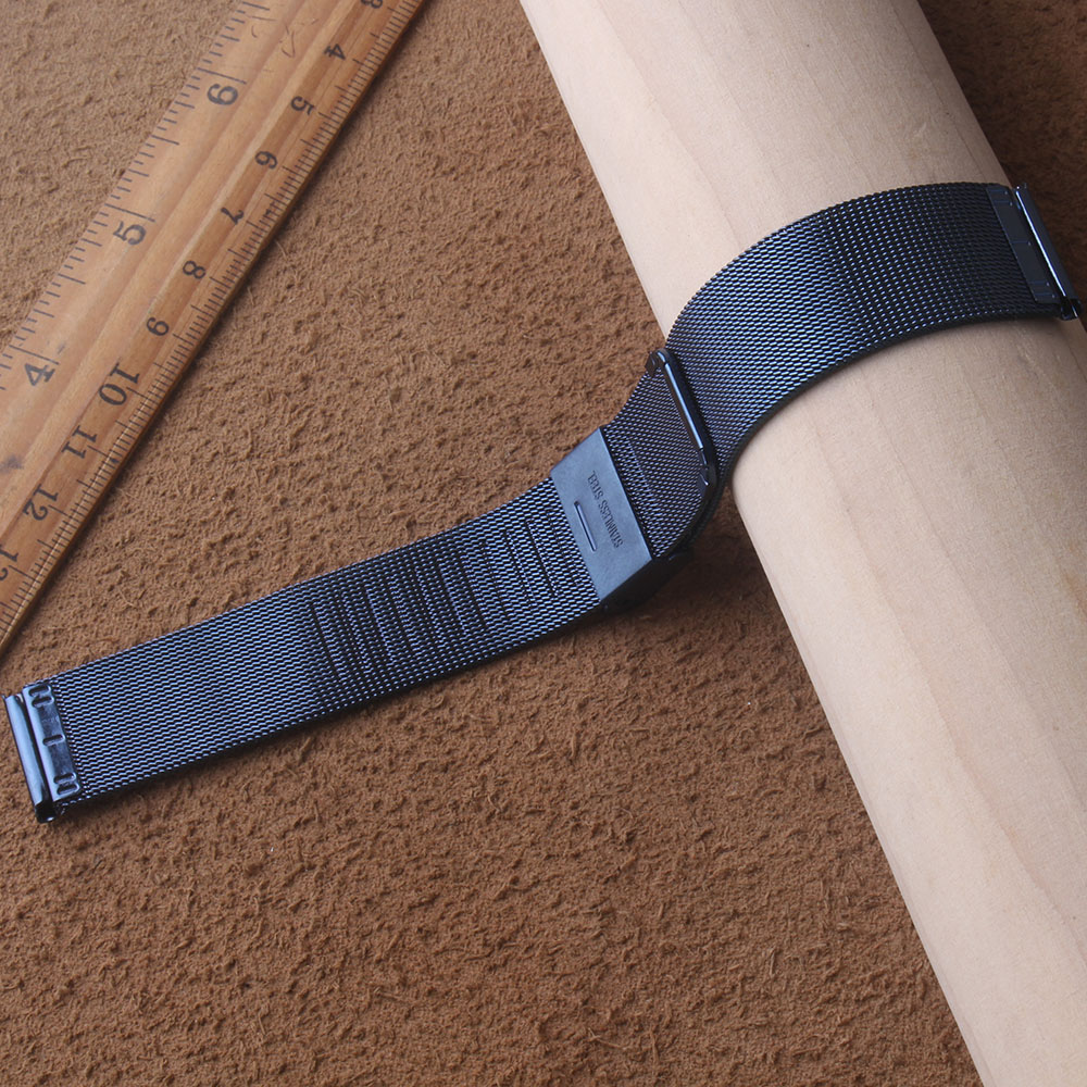 Milanese Mesh 14mm 16mm 18mm 20mm 22mm 24mm Blue Stainless Steel Watch Band Thin 0.4mm Mesh Strap Metal Watchband New Bracelets