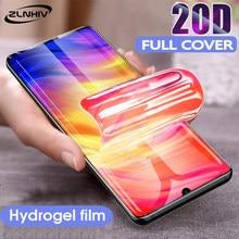 ZLNHIV soft full cover for xioami redmi 6 protective hydrogel film phone screen protector redmi note 6A pro note 7 pro Not Glass