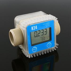 Image 3 - Digital K24 Turbine Digital Diesel Oil Fuel Flow Meter Gauge For Chemicals Liquid Water For Chemicals Water Flow Ultrasonic Flow