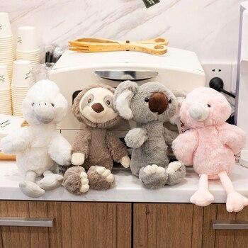 New Simulation Animal Sweet Sloth Koala Flamingo Plush Toy Soft Cartoon White Bird Stuffed Doll Baby Pillow Kids Appease Gift недорого