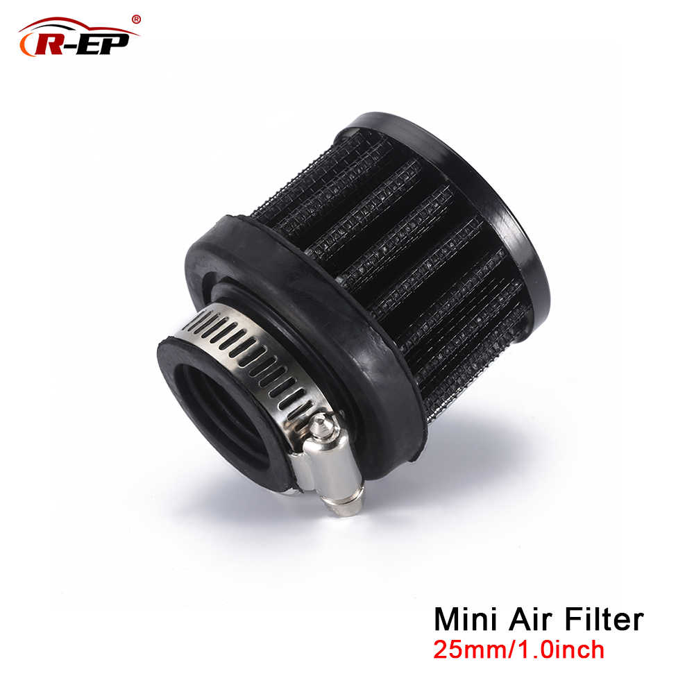 R-EP Universele 25 Mm Auto Luchtfilter Clip-On Auto Ronde Conische Koude Intake 1 Inch Mini Air Filters