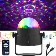 Sound Activated Rotating Disco Ball DJ Party Lights 3W LED Stage Lights led For Christmas wedding decoration sound dj par lights