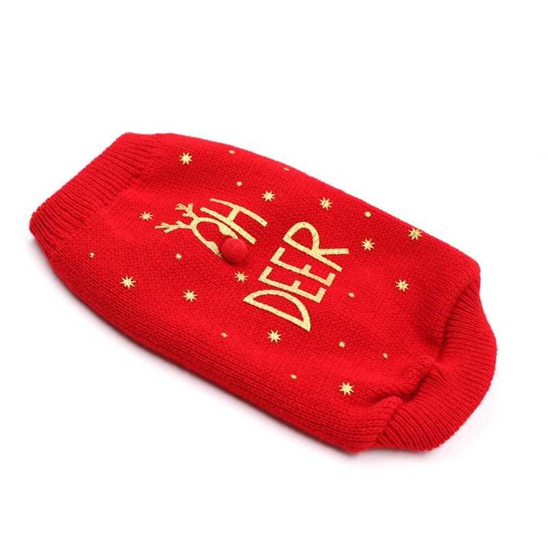 Weihnachten Haustier Katze Hund Pullover Hund Kostüm Buchstaben Gedruckt Stricken Pullover Für Französisch Bulldogge Chihuahua Tops Sweter Dla Psa