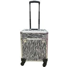 Для женщин большой емкости чемодан на колесиках для косметики чемодан на колесиках, гвозди макияж ящик для инструментов, многослойная Красивая Татуировка чемодан на колесах