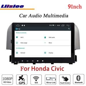 Liislee For Honda Civic 2016 Stereo Android Radio DVD Player TV BT Wifi GPS MAP NAV Navigation 1080P System Original NAVI Design