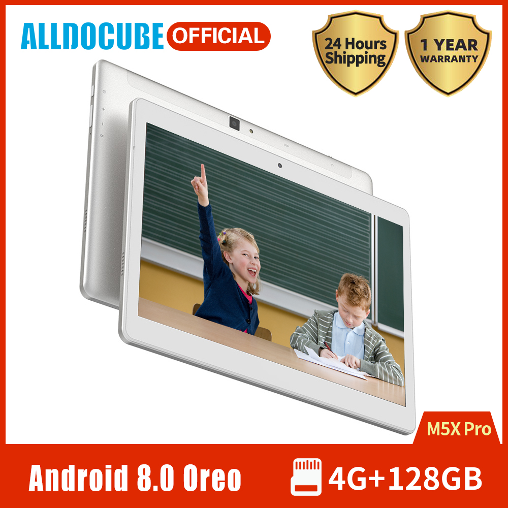 ALLDOCUBE M5X Pro Game/Education Tablet 10.1 Inch IPS Display MTK X27 Deca Core 4GB RAM 128GB ROM Android 8.0 GPS Dual WIFI
