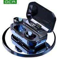 G02 TWS 5.0 Bluetooth 9D Stereo Earphone Wireless Earphones IPX7 Waterproof Earphones 3300mAh LED Smart Power Bank Phone Holder