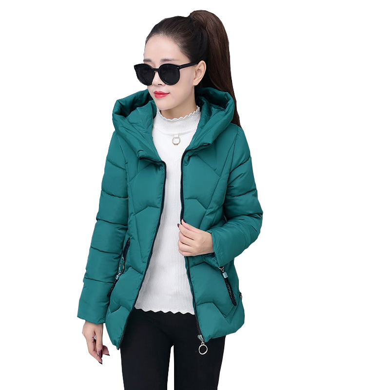 Winter Women  Cotton Parkas Large Hooded Coat Casual Padded Warm Jackets Wadded Snow Overcoat