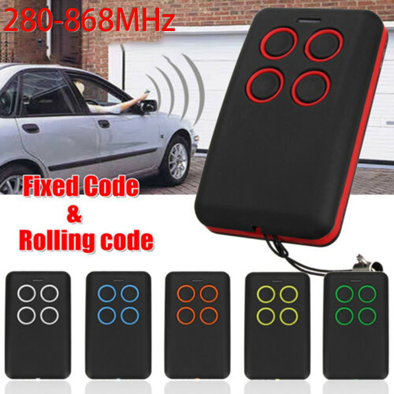 1pc Waterproof Design 280-868MHZ Universal Fix Rolling Gate Garage Doors Remote Control Duplicator Tool For Automatic Door