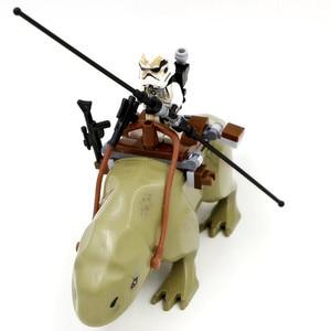 Звездные войны Dewback кирпичи The Force Awakens Sandtrooper Legacy Jabba's Rancor строительные блоки игрушки для детей