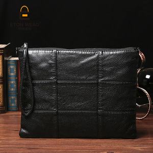 Image 3 - Super soft leather hand bag simple lady bag washed leather cross body bag