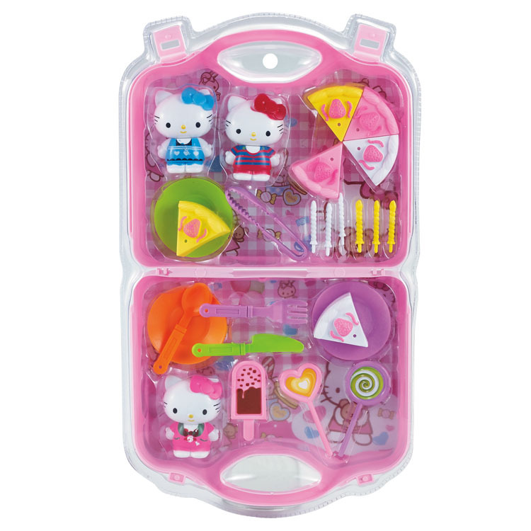Children Play House Suitcase New Products Chenghai Hello Kitty Cat Birthday Cake Toy Set