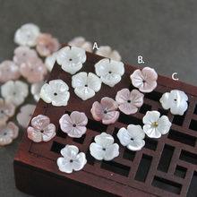 5 teile/beutel natürliche shell 10mm geschnitzte drei blütenblatt spitzen schüssel blume schmuck, die DIY ohrringe haar clip schmuck zubehör