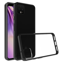 Hybrid Shockproof Cover Air Cushion Bag Case With Acrylic Crystal Clear Back Shell For Google Pixel 4 / Google Pixel 4 XL