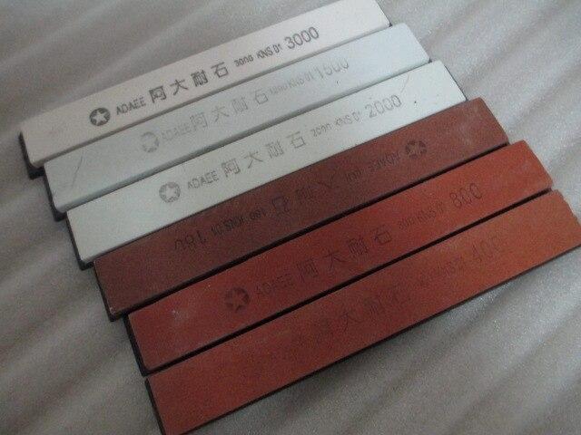 6PCS Sharpening Stones Kitchen Knife Sharpener Professional Sharpening Tool Set 180# 400# 800# 1500# 2000# 3000#