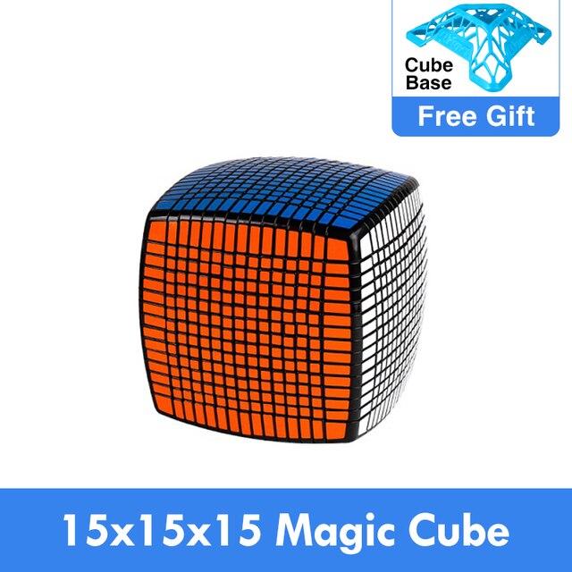 Moyu 15 camadas moyu 15x15x15 cubo com caixa de presente velocidade quebra cabeça mágico 15x15 cubo mágico educacional brinquedos (120mm) na promoção
